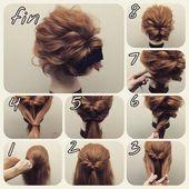 Einfache Hochsteckfrisuren #locken #flechten #hochzeit #dutt #schnelle  – Haare