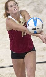 Fsu Sand Player Brittany Tiegs Pictured And Aurora Newgard Grab The Title Over Pepperdine On The Final Day Of Beach Volleyball Florida State Volleyball Team