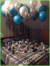 Geschenkideen für den Menschen – Blaue schwebende Luftballons zum Valentinstag …