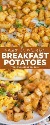 Einfache Frühstückskartoffeln