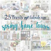 25 Fresh & Fabulous Spring Home Tours