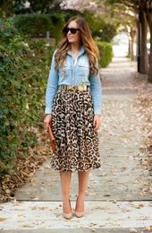 Style Sessions Link Up: Spring Style – Leopard Skirt and Chambray – Style Inspiration