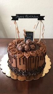 The Ultimate Chocolate Cake – YupFoodie #birthdaycake – birthday cake