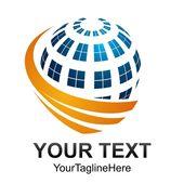 Creative Abstract Digital Sphere Technology Vector Logo Design