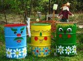 Fröhliche DIY Gartenideen mit alten Fässern – Garten