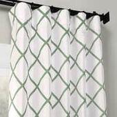 Exclusive Fabrics Pavillion Jade Flocked Faux Silk…