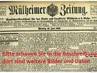 Mulheimer Zeitung 1909 Mulheim Ruhr Ruhrgebiet Stadtgeschichte Waz Historie Antiquariato Con Imagenes Arte