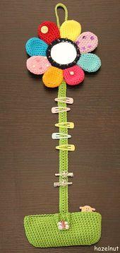 Häkelanleitung für eine Haarspange mit Tasche / DIY Häkelanleitung   – Diy Ha…
