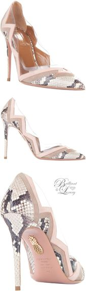 Brilliant Luxury by Emmy DE ♦ Aquazzura 'Frankie' Pumps