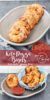 Bagels de pizza Keto à faible teneur en glucides