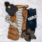Long Striped Contrast Cardigan