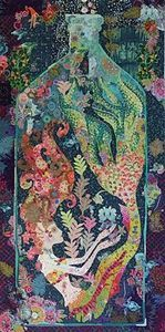 Fiberworks FWLHSIRN Sirene the Mermaid Collage Quilting Pattern by Laura Heine – quilt inspiration – colour or design