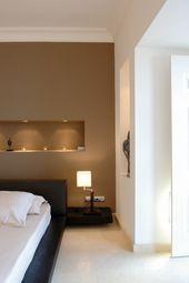 Idee per arredare casa con il color sabbia - Parete soggiorno color ...