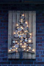 25 Effektive Ideen und Inspirationen für Weihnachtsdekorationen aus Holz
