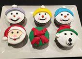 Cupcakes navideños de vainilla   – Wikikook