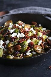 Roasted Brussels with Bacon & Feta – The Real Food Dietitians   – Vegetables