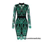 Pailletten Kleid 2020 Sexy in Grün