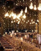 20 Creative Ideas for Wedding Reception Lighting