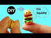 DIY Mini Hamburger Squishy für Puppe / Puppenhaus Zubehör – YouTube #dollho …