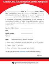 Credit Card Authorization Form Credit Letter Pack Of 5 Premium Printable Templates Lettering Credit Card Letter Templates