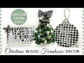 Dollar Store DIY's ~ Rustic Christmas Farmhous…