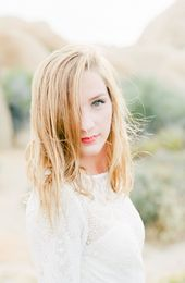 Soft and beautiful bridal make up for a bohemian bride. Photo by Heather Anderso…