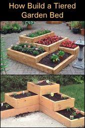 Dieses gestufte Gartenbett ist eine großartige Lösung für kleine Räume oder eine Alternative, wenn