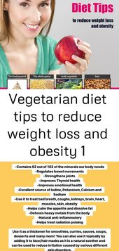 Vegetarian diet tips to reduce weight loss and obesity 1