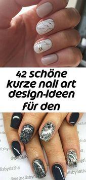 42 schöne kurze Nail Art Design Ideen für den Sommer – nail – #art #den #d … – nails ideas   – Nagel