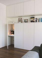 Ein diskreter Schreibtisch und viel Stauraum – #Besta #discreter #A #descripti