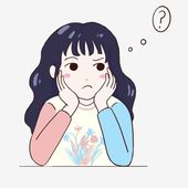 Worried Little Girl Thinking About Problems Girl What Is The Answer To The Question Why Can T I Think Of It Png Transparent Clipart Image And Psd File For Fr Black And White Cartoon Girl Cartoon Girl Thinking
