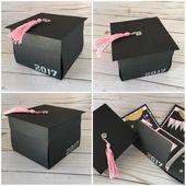 Explosion Photo Box, School Graduation, Graduation Mini Album IN YOUR COLORS – Exploding Box Album, Grad Cap and Tassel Scrapbook – DIY