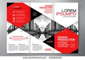 Folleto comercial. Diseño de Flyer. Folletos 3 pliegues de plantilla. Libro de tapa y Magazi …   – Brochure design