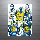 Golden State Warriors Big Four Poster