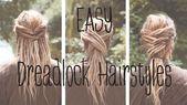 Dreadfrisuren: EASY DREADLOCK HAIRSTYLES - Lina Larsen #dreadfrisuren #dreadlock #hairstyles #larsen