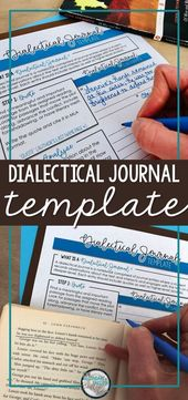 Assist college students analyze literature with this dialectical journal template. This te…