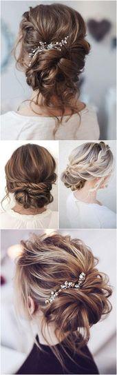 Best Hairstyles for Brides - Elegant Updo Bun with Vintge Hair Comb Accent- Amaz...  - Hairstyles up - #accent #Amaz #Brides #bun #comb