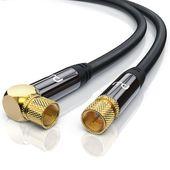 HDTV Satellitenkabel 90° gewinkelt »F-Stecker zu F-Stecker / 135dB / Premium Series«