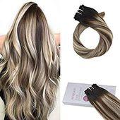 Moresoo 18 Inch Extension Clip in Human Hair Exten…