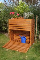 Lit de fines herbes Hochbeet MultiBox S B42 x P32 x H80 cm – Anja Walter   – Paletten Garten