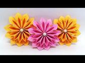 DIY Papierblumen einfach machen Tutorial (Origami Flower) – Paper Crafts Ideas – Y … – Papier