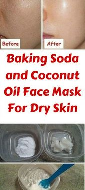 Baking Soda and Coconut Oil Face Mask For Dry Skin
