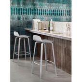 Bar stool / H 65 cm – walnut legs – Normann Copenhagen – white, walnut Normann Copenhag