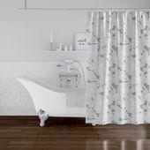 Mandujano Flower Power Single Shower Curtain  – Lucy bathroom