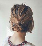 20 Ideen für nette einfache Frisuren für kurzes Haar 2019