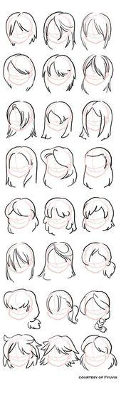 Wie zeichne Frisuren