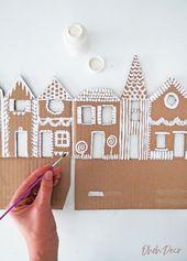 Remark faire une décoration de maison de gingembre avec du carton recyclé – O…