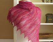 Lace Scarf Knitting Pattern PDF Mistral Scarf French inspired gradient rectangle lace scarf wrap cowl stole easy pattern no charts