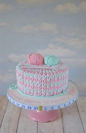 Einen Kuchen für die Oma stricken   – Cake decorating