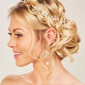 Glamorous bride hairstyles with hair accessories